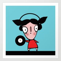 dj Art Prints featuring dj by Alfonnew Shop
