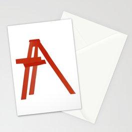 Red ladder billie Stationery Cards