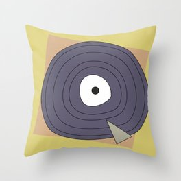 Abstract funny digital art of a vintage record Throw Pillow