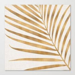 Metallic Gold Palm Leaf Canvas Print
