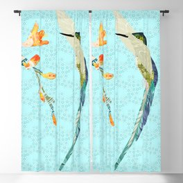 A Hummingbird Flaps Her Wings #2 Blackout Curtain