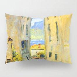 Louis Eilshemius Street in Lugano Pillow Sham