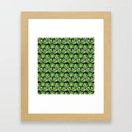Tropical leaves seamless pattern, exotic monstera jungle print Framed Art Print