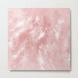 Pale Pink Haze Metal Print