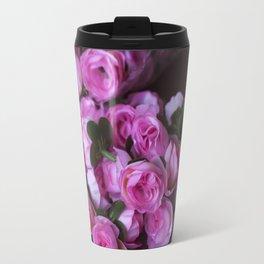 Pink Rose Buds Travel Mug