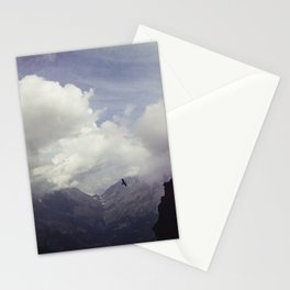 clouds over mountains Stationery Cards