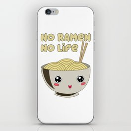 Ramen Bowl Japanese Noodles Soy Miso Noodle Soup iPhone Skin