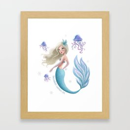 Winter Mermie Framed Art Print