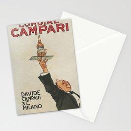 Vintage 1920 Cordial Campari Advertisement by Luigi Caldanzano Stationery Cards