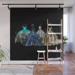 Evening Gowns Collection Fashion Illustration Wall Mural