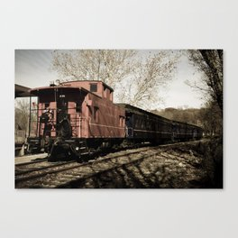 Aged Steam Train Abstract Landscape Photograph Canvas Print