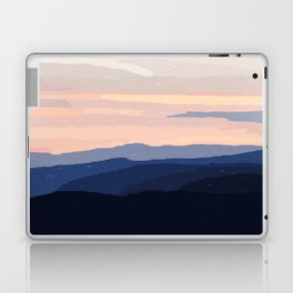 Pastel Sunset Over the Mountains Laptop & iPad Skin