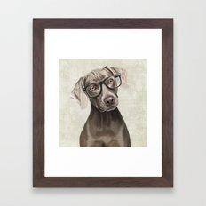 Mr Weimaraner Framed Art Print