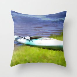 Kayak in Upstate NY Throw Pillow