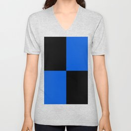 Big mosaic blue black Unisex V-Neck