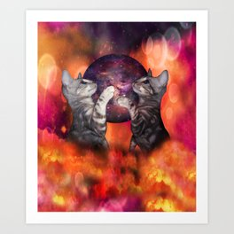 The Silver Marble Oracle Kitty Cats of the Kittyverse Art Print