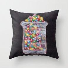 Candy Jar Throw Pillow