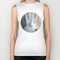 allyson johnson Biker Tanks featuring Johnson Canyon Waterfall by RMK Photography