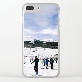 Ski Scene Clear iPhone Case