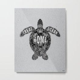 ocean omega (monochrome series) Metal Print