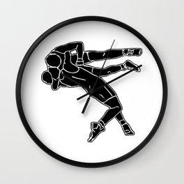 Greco-Roman wrestling Wall Clock