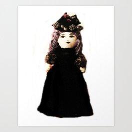 Pretty in Black Doll Art Print