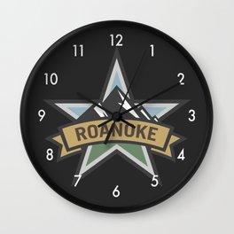 Roanoke Virginia Star City Pride Logo Wall Clock