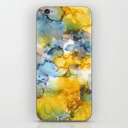 Alcohol Ink 'Fools Gold' iPhone Skin