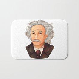 My preferred Genius,  a illustration of the biggest physicist  Albert Einstein. Bath Mat