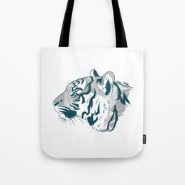 Grayscale Tiger Tote Bag