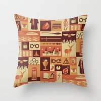 risa rodil Throw Pillows featuring Accio Items by Risa Rodil