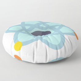 Atom Icon Floor Pillow
