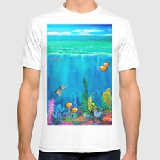Undersea with Nautilus Mens Fitted Tee MEDIUM White