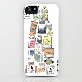 Shopping Essentials iPhone Case