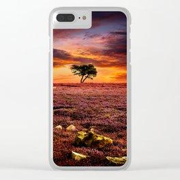 Egton Moor Sunset Clear iPhone Case