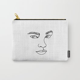 Face one line illustration - Ethel Carry-All Pouch