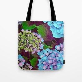 Hydrangea Pink and Blue Tote Bag