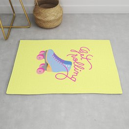 Get Rolling (Yellow Background) Rug