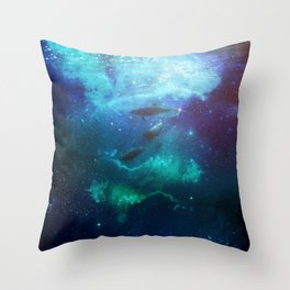 Mystic dolphins Throw Pillow