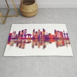 Kuwait City Kuwait Skyline Rug