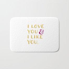 I love you & I like you -- Yellow Bath Mat