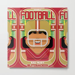 American Football Red and Gold - Hail-Mary Blitzsacker - Indie version Metal Print