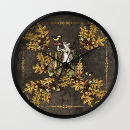 History of the autumn forest_5 Wall Clock