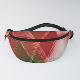 Abstract Holiday Plaid Fanny Pack