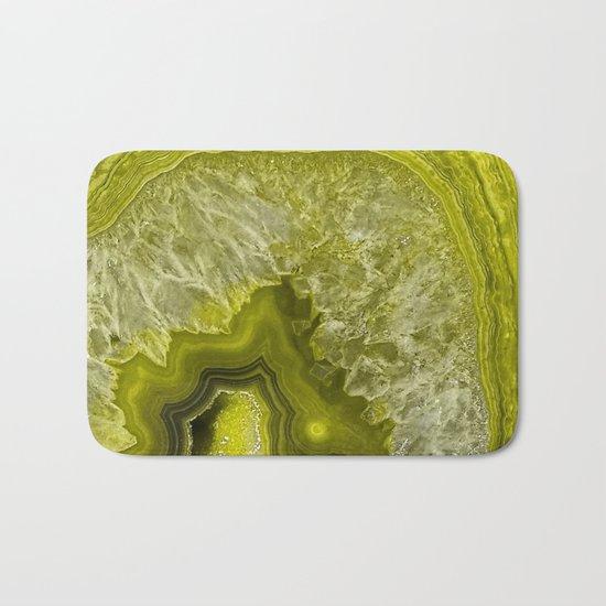 Green pantone agate mineral gem stone- Beautiful backdrop Bath Mat