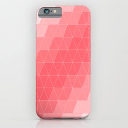 Coral Red Triangles iPhone Case