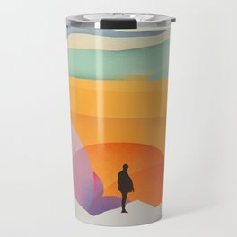 I Like to Watch the Sun Come Up - (White Version) Travel Mug