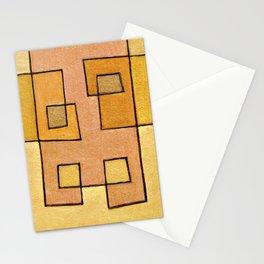 Protoglifo 04 'yellow hugging pink' Stationery Cards