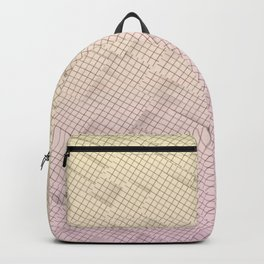 sunset grid city Backpack