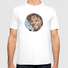 African woman MEDIUM Mens Fitted Tee White